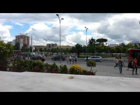 Skanderbeg square Albania 2014