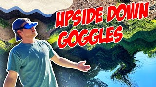 Disc Golf With Upside Down Goggles