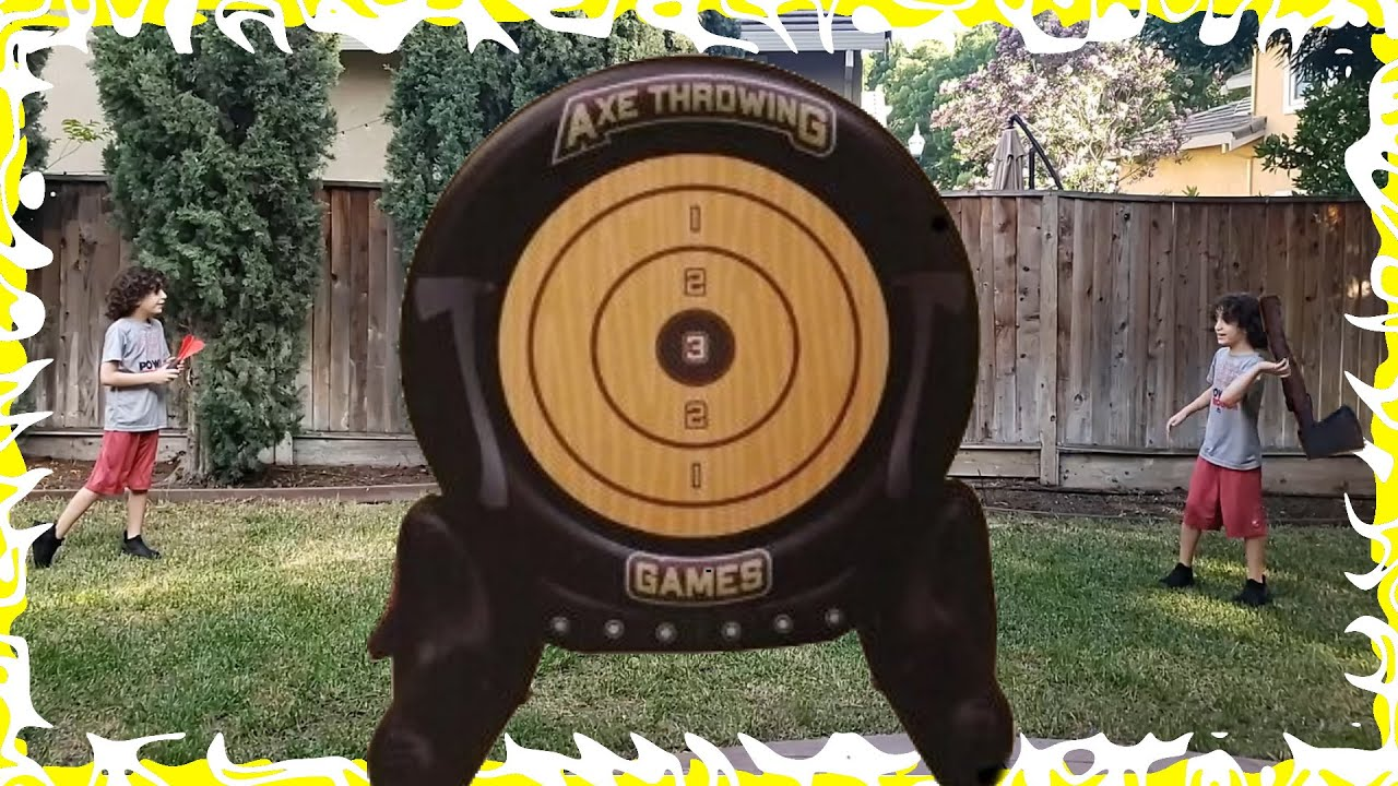 2 In 1 Axe Throwing Dartboard Challenge Review by Twins