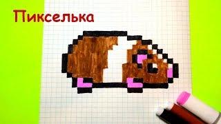Как Рисовать Милую Морскую Свинку по Клеточкам ♥ Рисунки по Клеточкам