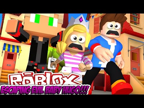 ESCAPING FROM EVIL BABY HUGO   ROBLOX OBBY FACECAM!!!W/ LITTLE DONNY- Baby Leah Minecraft Roleplay!