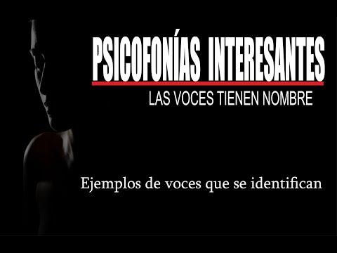 PSICOFONÍAS INTERESANTES  - VOCES CON NOMBRE