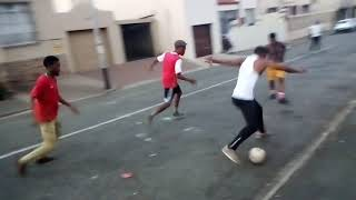 Cristiano Ronaldo scores in South African Street Football
