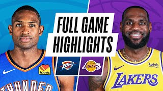 THUNDER at <b>LAKERS</b> | FULL GAME HIGHLIGHTS | February 10 ...