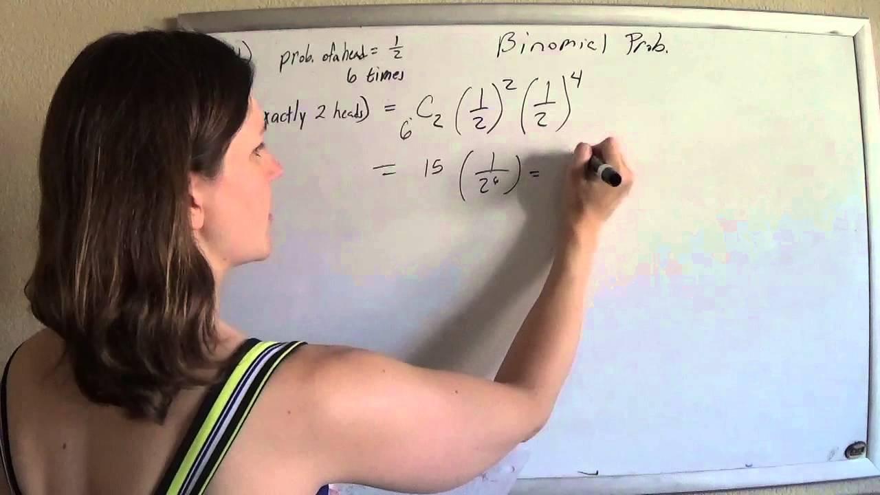 Probability kutasoftware 4 Binomial probability exactly 2 heads – Binomial Probability Worksheet