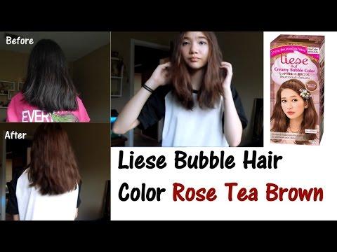 Liese Bubble Hair Color Rose Tea Brown Youtube