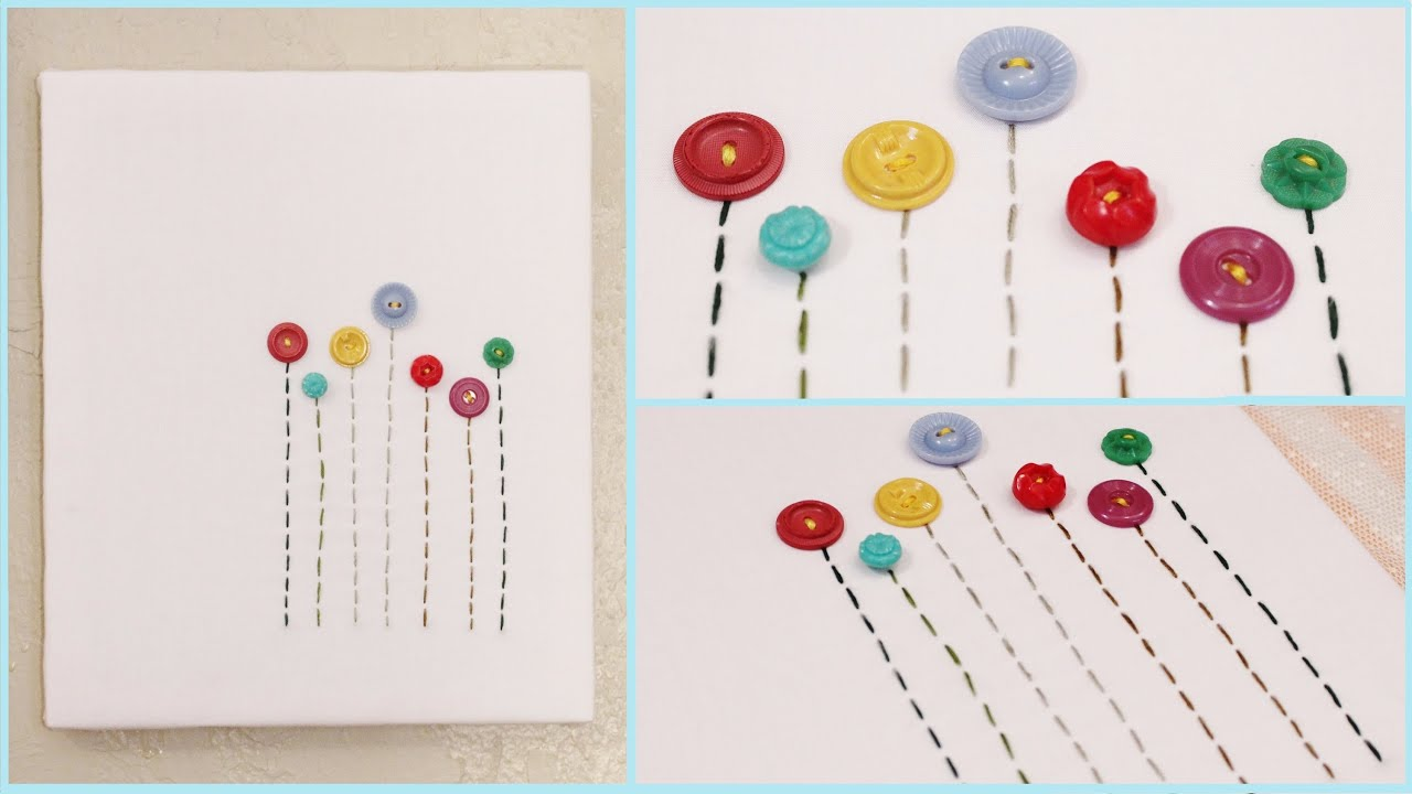 how to make button art pictures