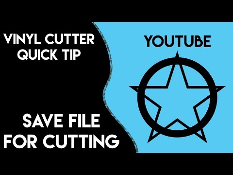 How to Prep and Save Files for Vinyl Cutting | ADOBE Illustrator Tutorial