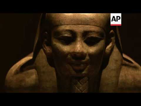 Recovered relics of sunken Egyptian cities on display