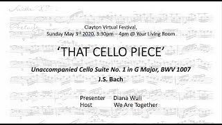 That Cello Piece, Ep.1: 'Prelude' from Unaccompanied Cello Suite No. 1 in G Major, BWV 1007