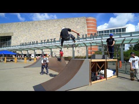 Indiana State Museum Skate Park in 4K