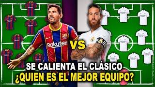 ¡SE CALIENTA EL CLÁSICO! ONCE del BARCELONA vs REAL MADRID - ¿QUIEN GANARÁ?