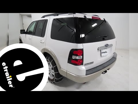 etrailer   Titan Snow Tire Chains Installation - 2010 Ford Explorer