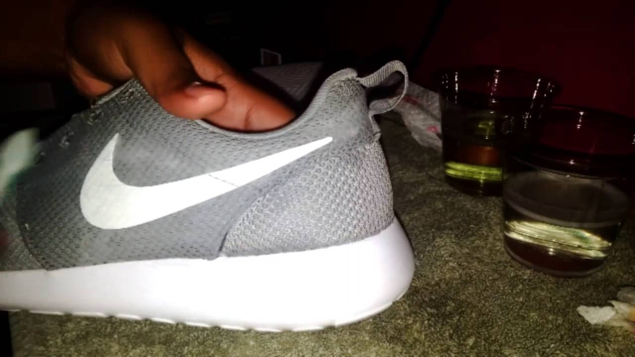 How to Clean Nike Roche Run Wolf Gray Edition