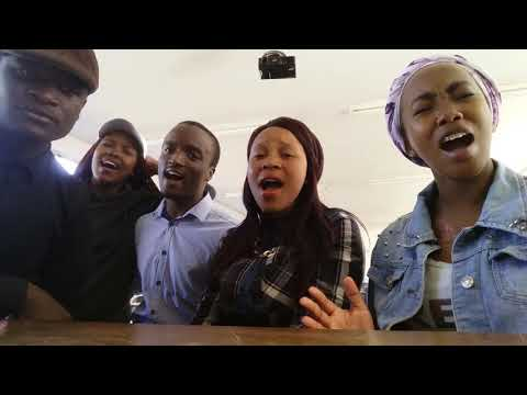 G.S College Acappella group singing Mixed Songs, Nathi and Zahara