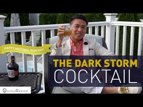 Crafting The Dark & Stormy Cocktail x Diplomatico Rum
