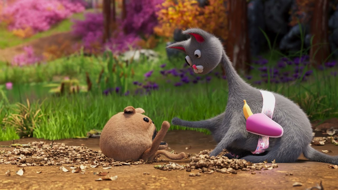 Have you seen a mole rocket! | Noodle and Bun | Animation 2021