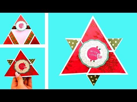 DIY Christmas Greeting Card | Christmas Paper Crafts Ideas (2019) #5 - Giulia's Art