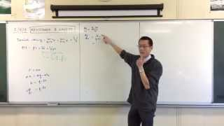 Vertical Resistance & Gravity example question (1 of 2: Finding x(v))
