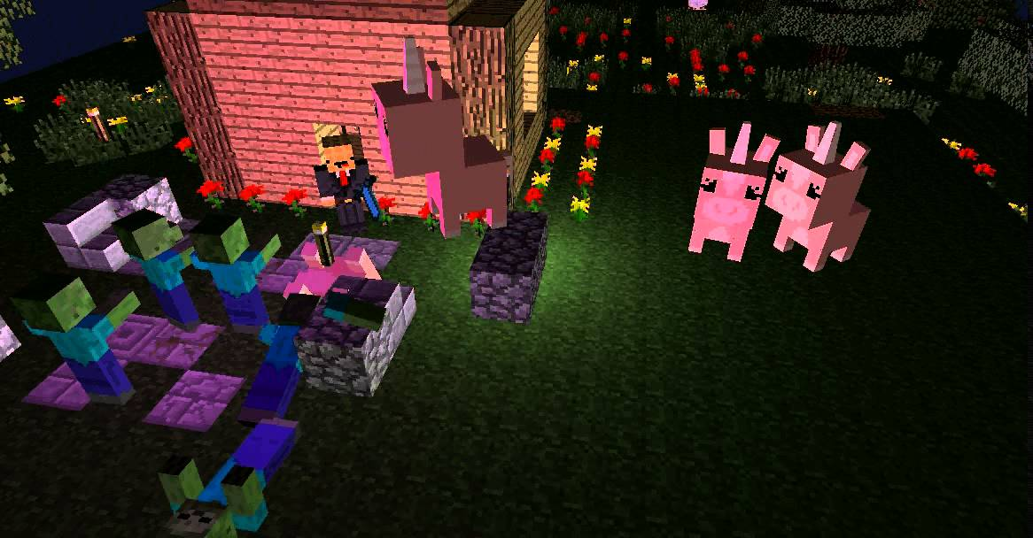 Minecraft Zombies Vs Unicorns