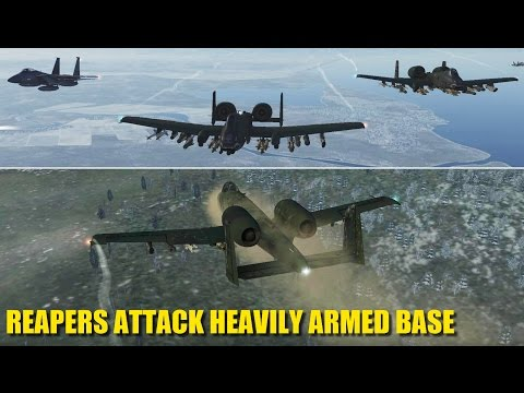 TOUGH Airbase Attack Mission | A-10 F-15 F-18 | DCS