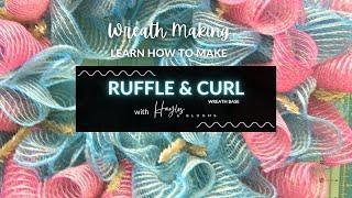 [RUFFLE WREATH] Ruffle Deco Mesh Wreath Base Using 30
