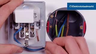 Gira combinatie schakelaar-WCD 1-polig aansluiten - Elektrototaalmarkt.nl