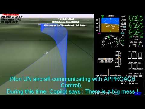 Georgian Airways CRJ 100 4L GAE accident at Kinshasa 04 April 2011