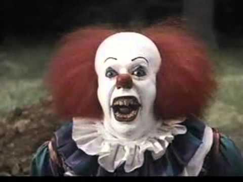 scary clown pop up