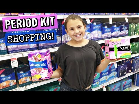 Teen Period Kit Shopping With MOM!