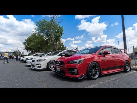 Looking at Modded Subarus and Cruise + Sac meet