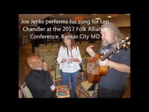 Joe Jenks sings for Len Chandler at 2017 Folk Alliance, Kansas City, MO