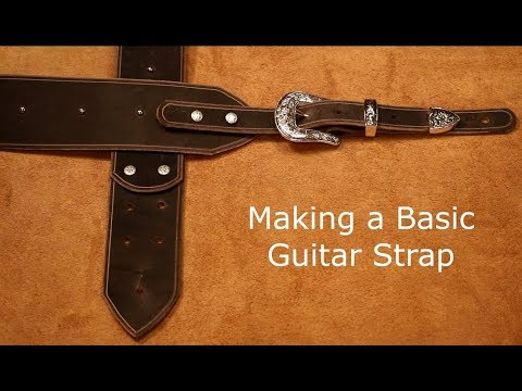 how-to-make-a-leather-guitar-strap