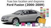 Ford Fusion 2010 2012 Fuse Box Diagrams Youtube