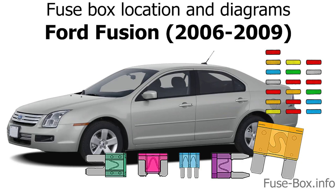 medium resolution of fuse box location and diagrams ford fusion 2006 2009 youtube 2009 ford fusion radio fuse box