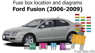[SCHEMATICS_43NM]  Fuse box location and diagrams: Ford Fusion (2006-2009) - YouTube | 2008 Ford Fusion Fuse Diagram |  | YouTube