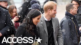 Meghan Markle & Prince Harry Have A Snowy Walk Together | Access