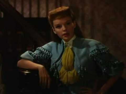JUDY GARLAND: 'OVER THE BANISTER'  FROM 'ST LOUIS'.  A CLOSEUP.
