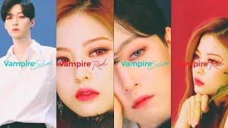 [OLENS] VAMPIRE RED & SILVER 촬영 스케치|뱀파이어 시리즈 |할로윈