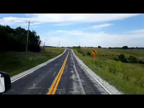Bigrigtravels Live! Backroads driving! Milan, Missouri to Brooklyn,  Iowa June 18, 2016