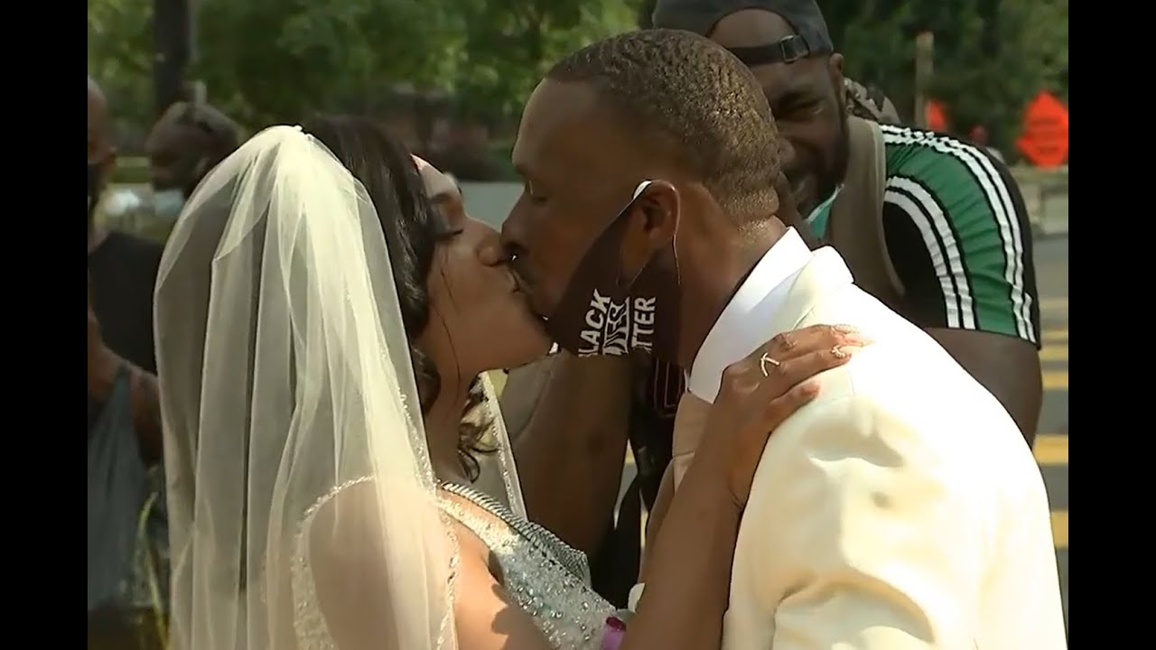 DC couple gets married on Black Lives Matter Plaza