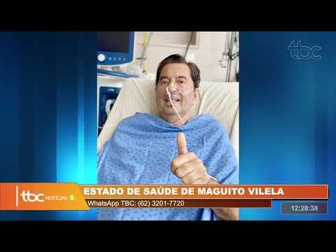 MAGUITO VILELA SEGUE ESTÁVEL E COM SEDAÇÃO LEVE