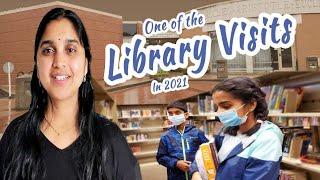 మా Library Visit in America 2021   Telugu Vlogs from USA   The Nala's Vlogs