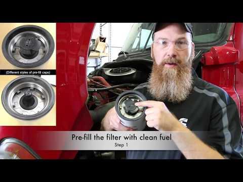 Fleetguard FF5825NN Fuel Filter Change - YouTube
