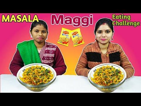 MASALA MAGGI EATING CHALLENGE | Maggi Noodles Eating Competition | Food Challenge