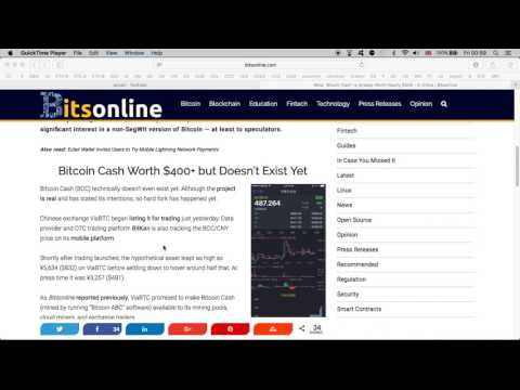 'Bitcoin Cash' Is Already Worth Nearly $500 In China But Doesn't Exist Yet | 27.07.2017