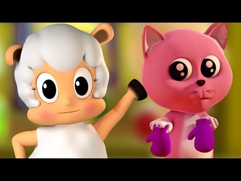 Три маленькие котята | потешки | 3D Kids Songs | Nursery Rhyme | Three Little Kittens For Kids