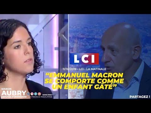 LA RÉACTION D'EMMANUEL MACRON EST CELLE D'UN ENFANT GÂTÉ - Manon Aubry