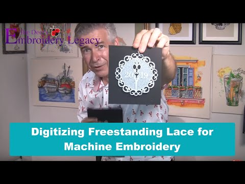 Digitizing Free Standing Lace For Machine Embroidery