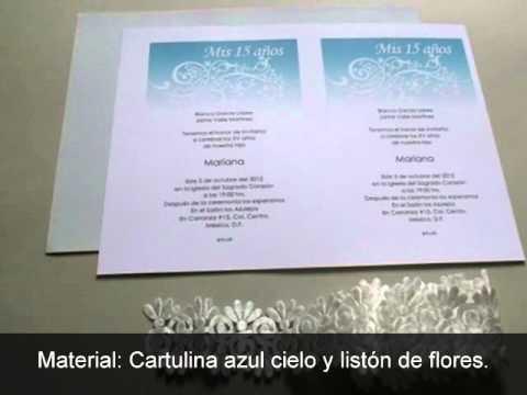 Cómo Hacer Invitación De 15 Años Azul Con Flores